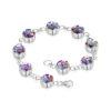 Shrieking Violet – Purple Haze Silver Small Heart Drop Earrings in Gift Box