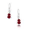 Shrieking Violet – Poppy Sterling Silver Oval Surround Drop Earrings in Gift Box
