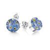 Shrieking Violet – Forget-me-not Silver Stud Teardrop Earrings in Gift Box