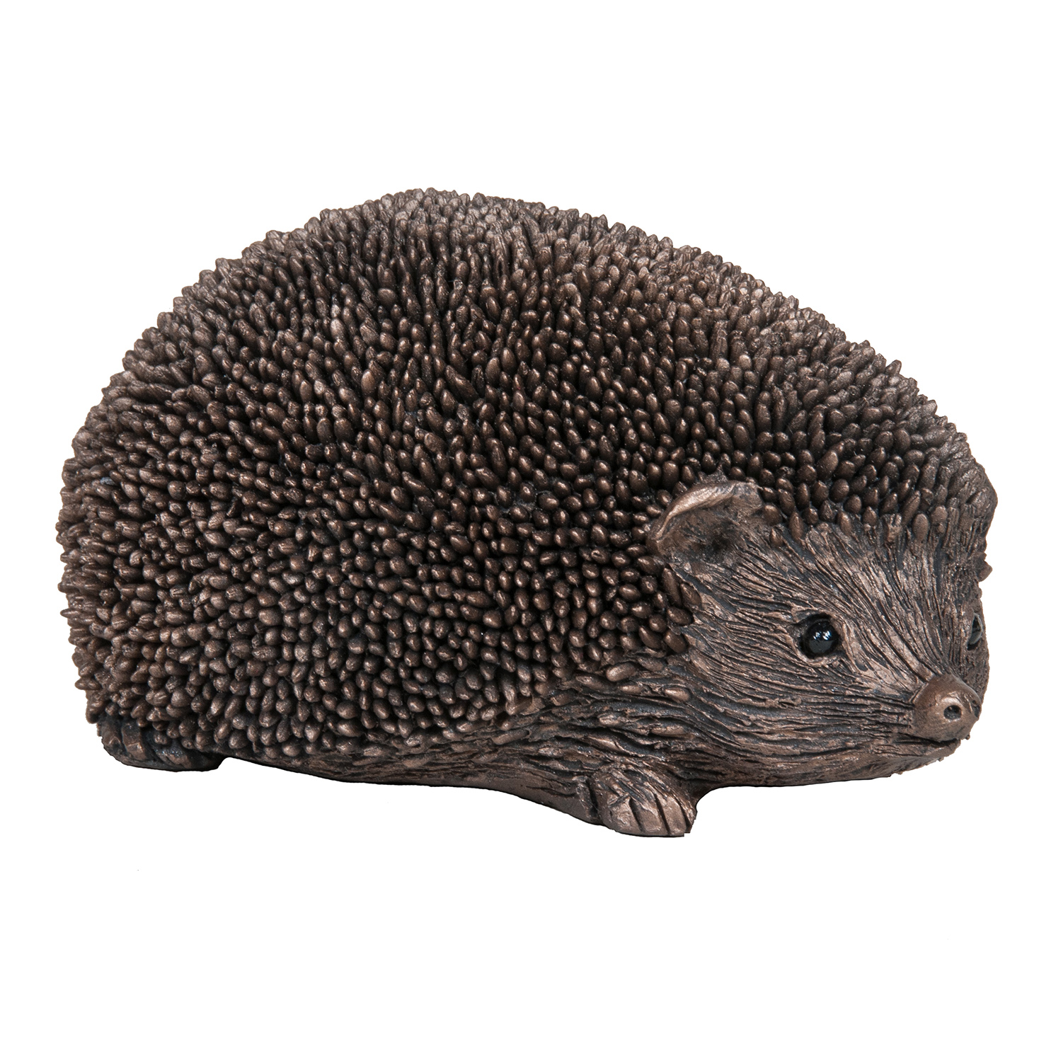 Frith Sculpture – Wiggles – Hedgehog Walking in Bronze Resin by Thomas Meadows