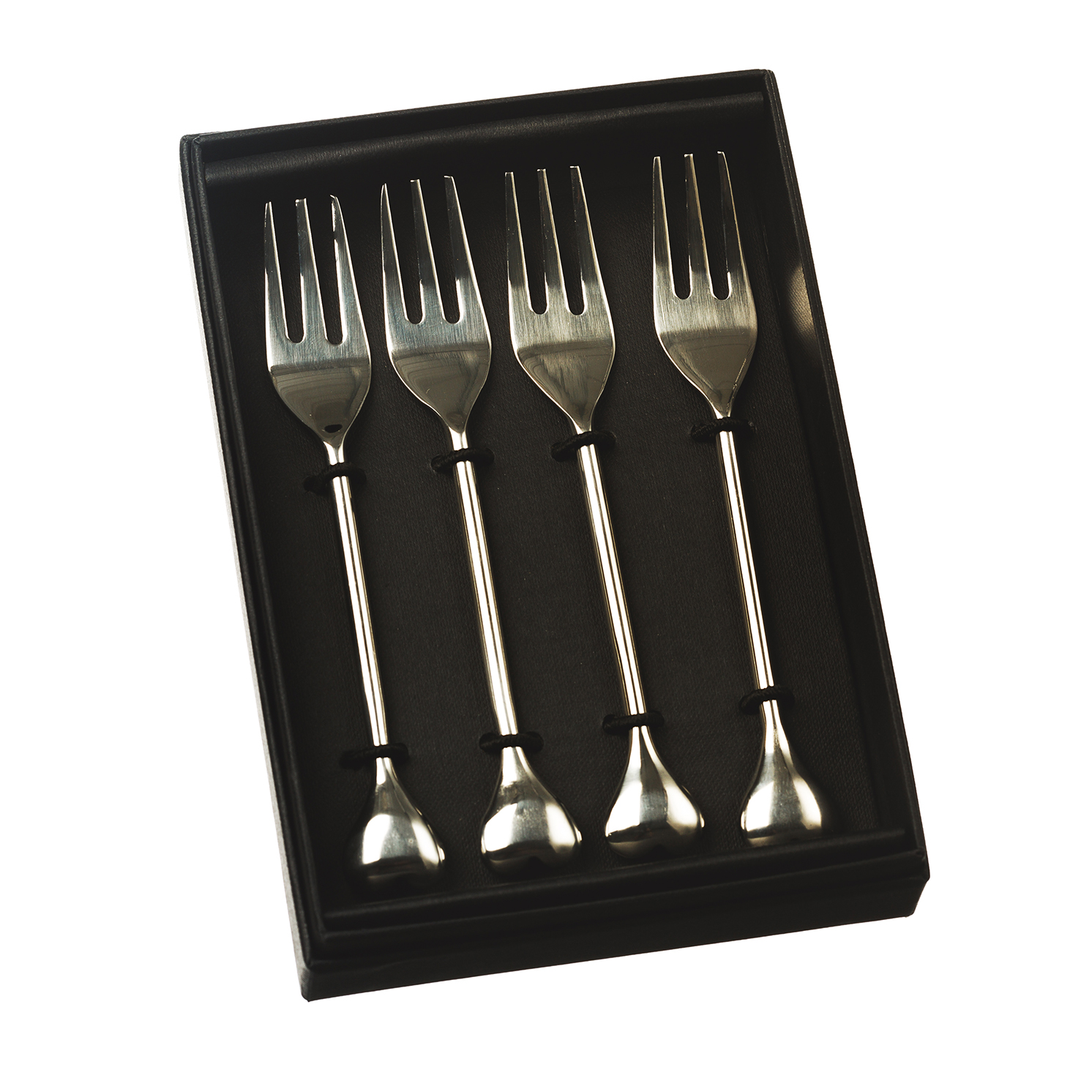 The Just Slate Company – Set of 4 Heart Pastry Forks in Presentation Box