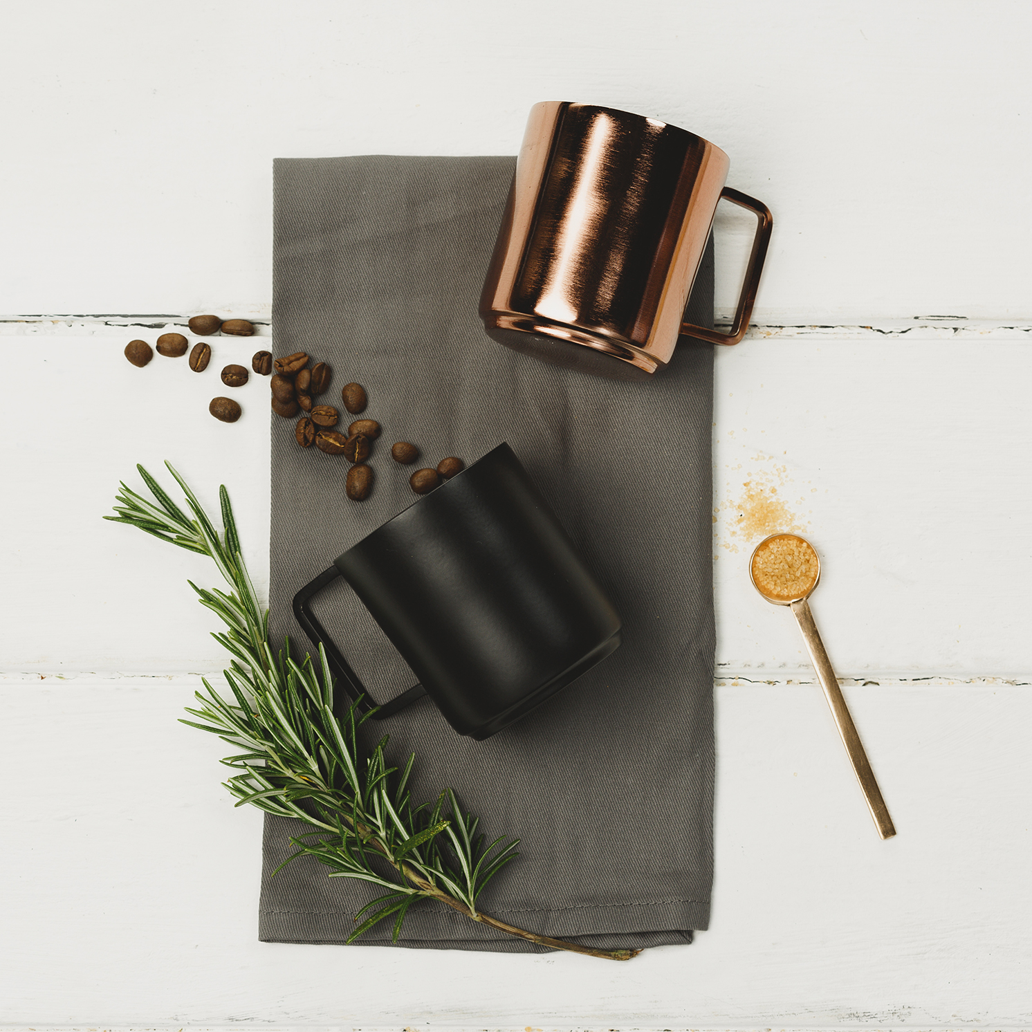 The Just Slate Company – Set of 2 Stainless Steel Coffee Cups/Mugs in Gift Box