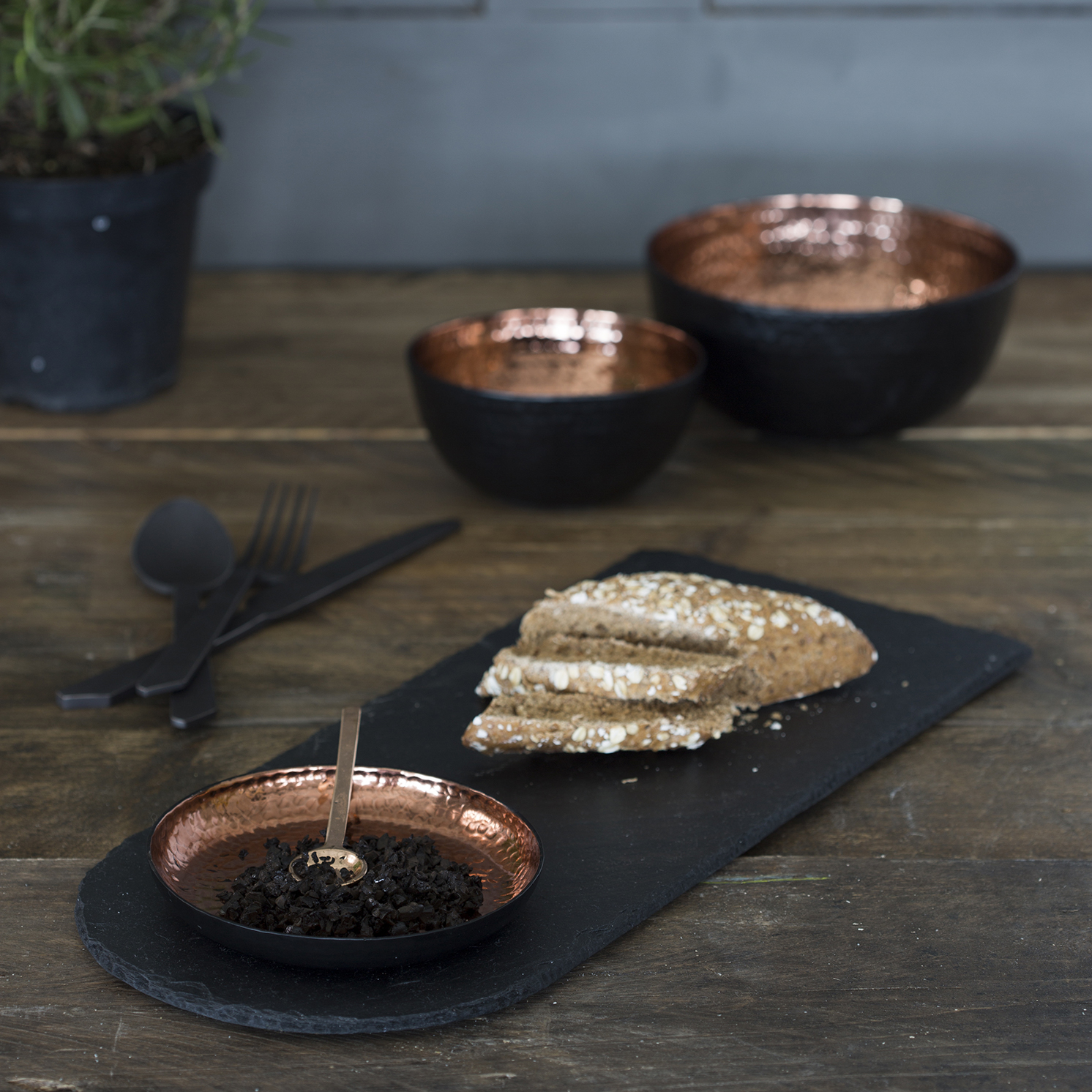The Just Slate Company – Copper and Slate Serving Platter in Presentation Box