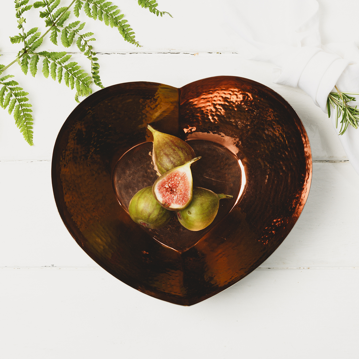 The Just Slate Company – Large Heart Shaped Copper Bowl in Presentation Box