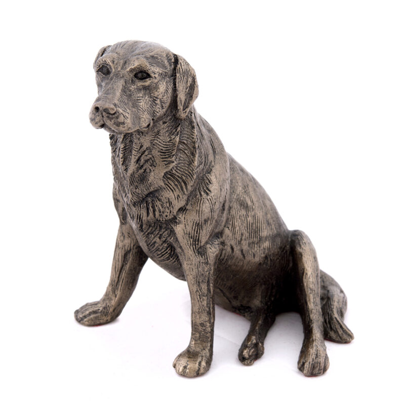 Frith Sculpture – Nigel – Labrador Sitting in Bronze Resin in Gift Box