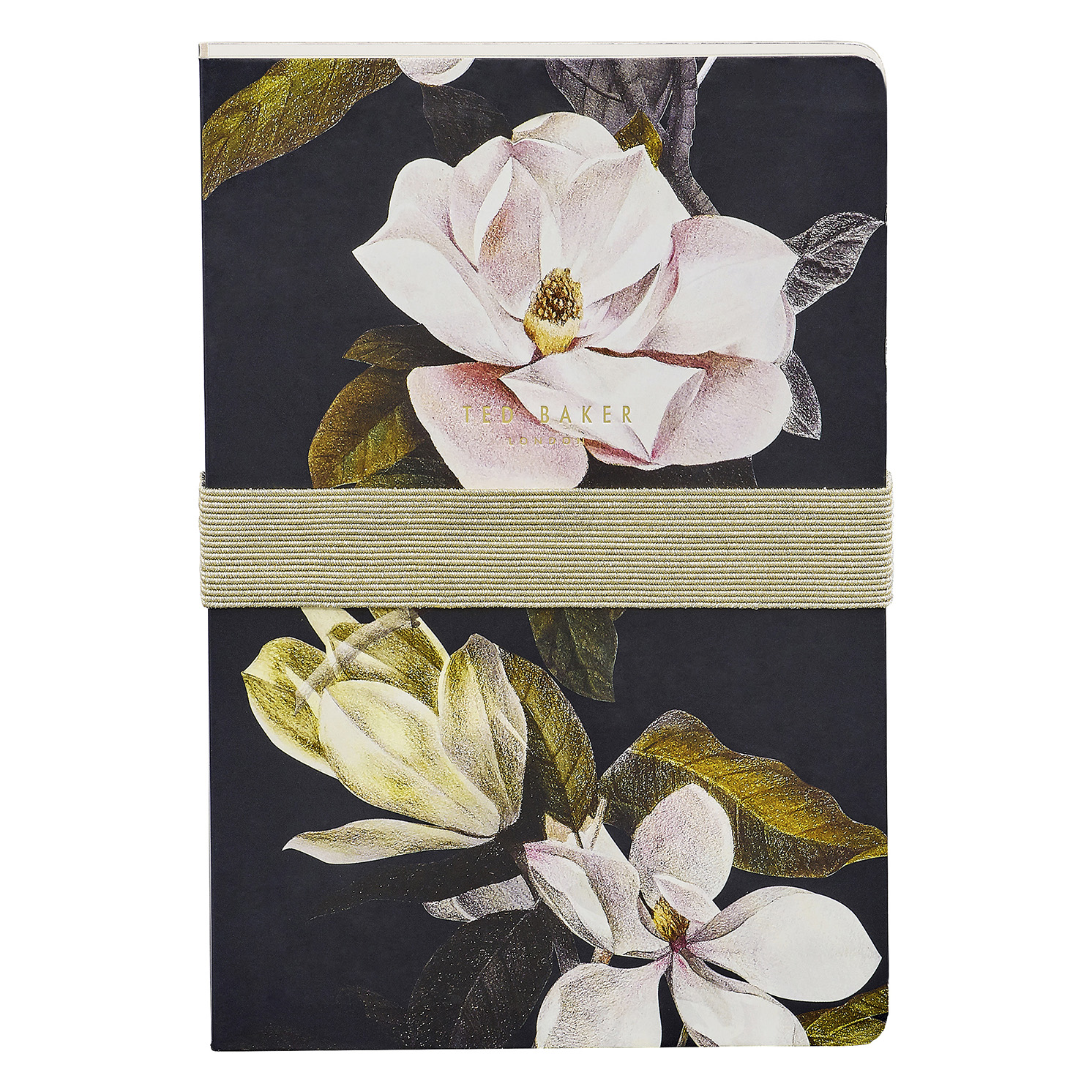 Ted Baker – Black Opal Floral A5 Hardback Printed Notebook & Sticky Notes Set
