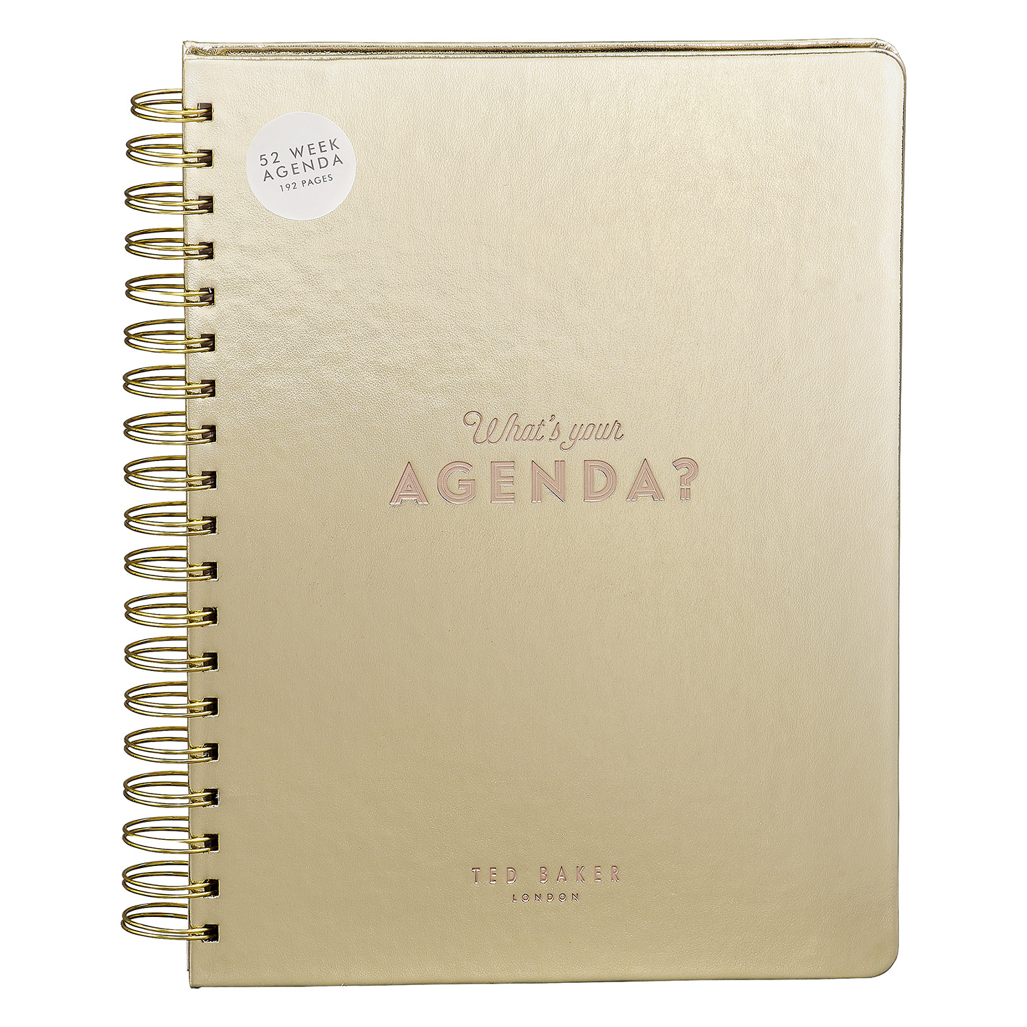 "Ted Baker – Gold 52 Week ""Truly Gifted"" Agenda/Notebook"