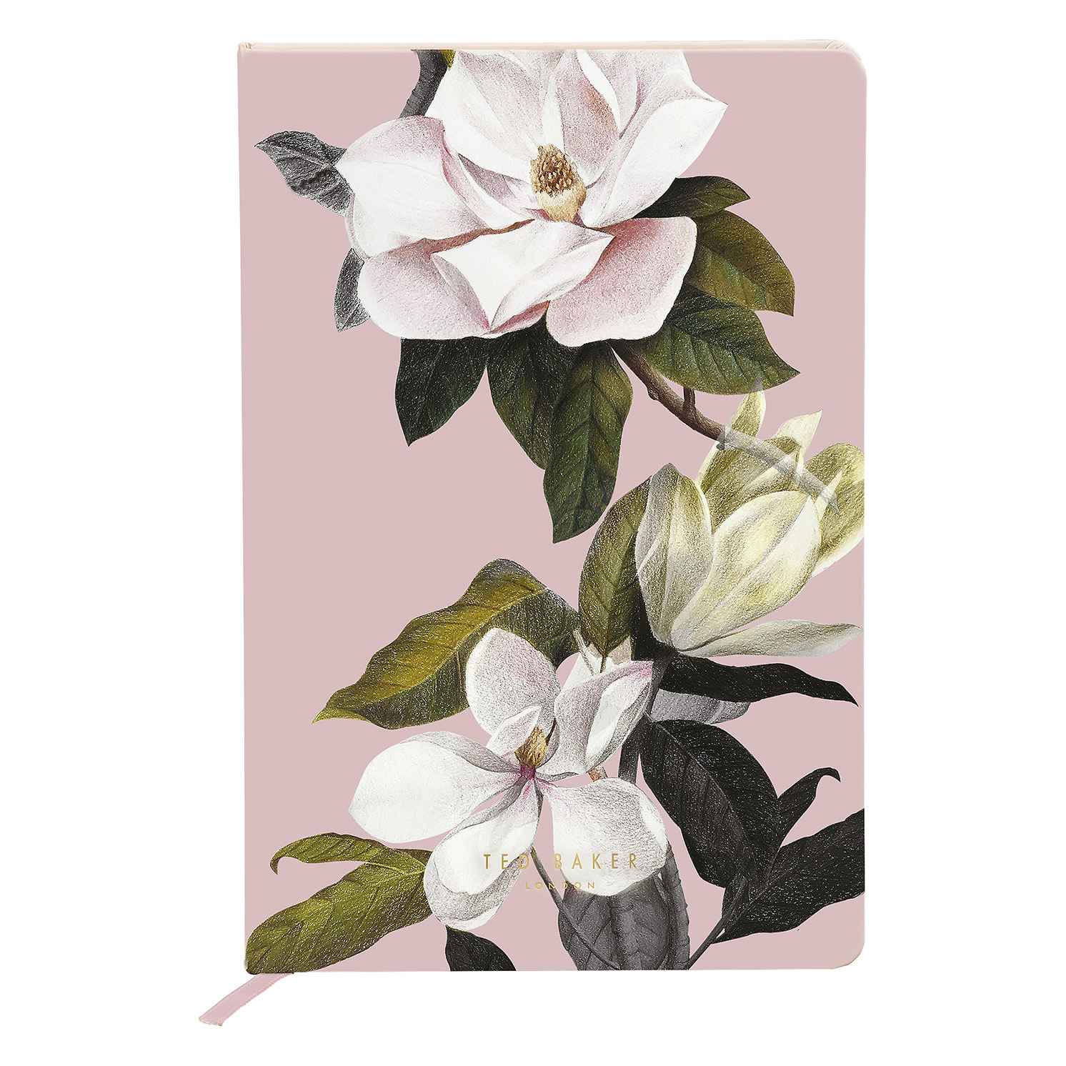 """Ted Baker – Pink Opal Floral A5 """"Truly Gifted"""" Hardback Printed Notebook"""