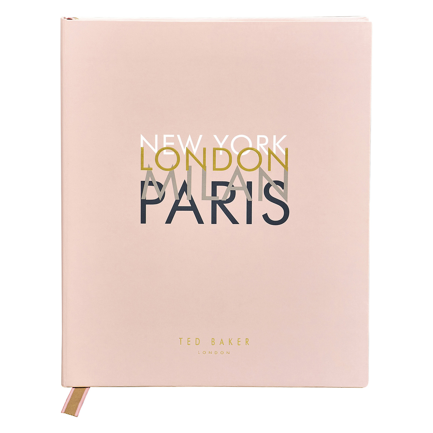Ted Baker – Pink Travel Planner and Journal with Soft Touch PU Cover