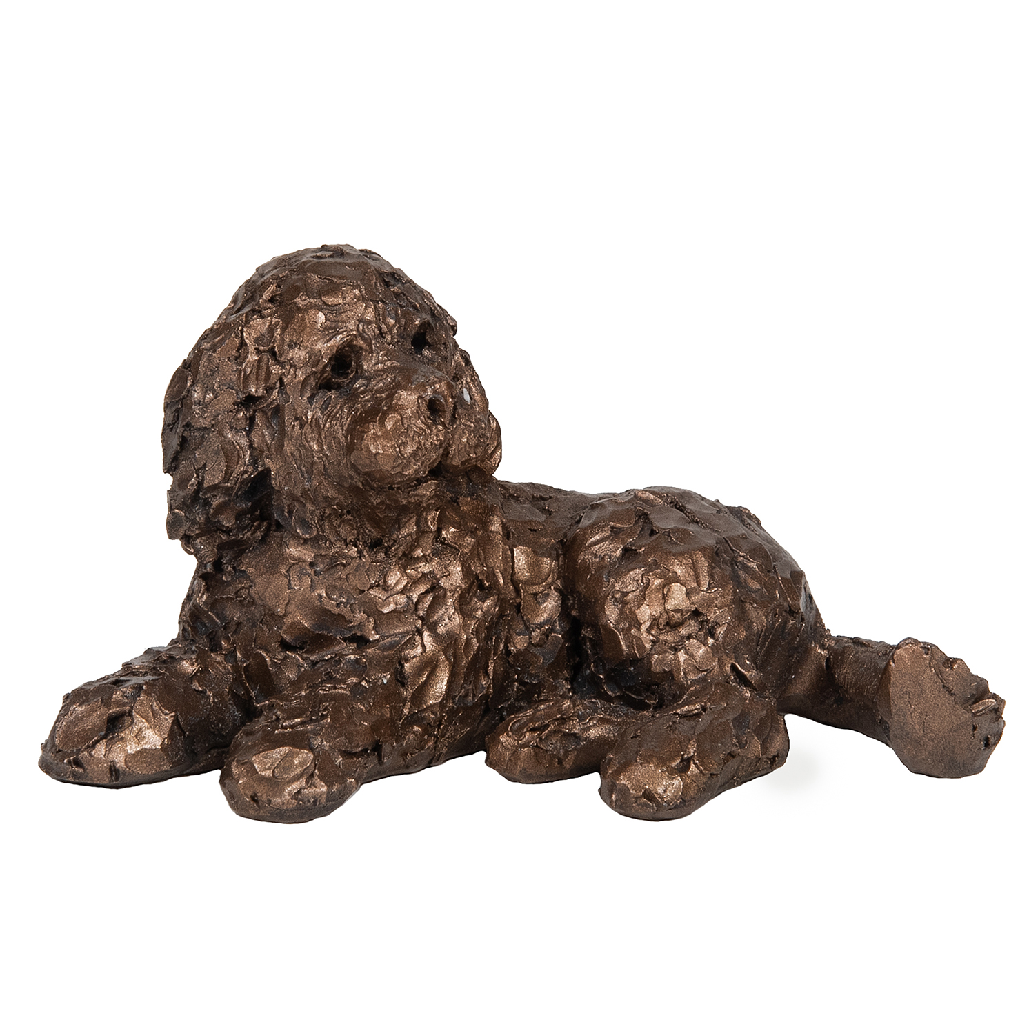 Frith Sculpture – Pickwick Cockapoo Lying in Bronze Resin in Gift Box