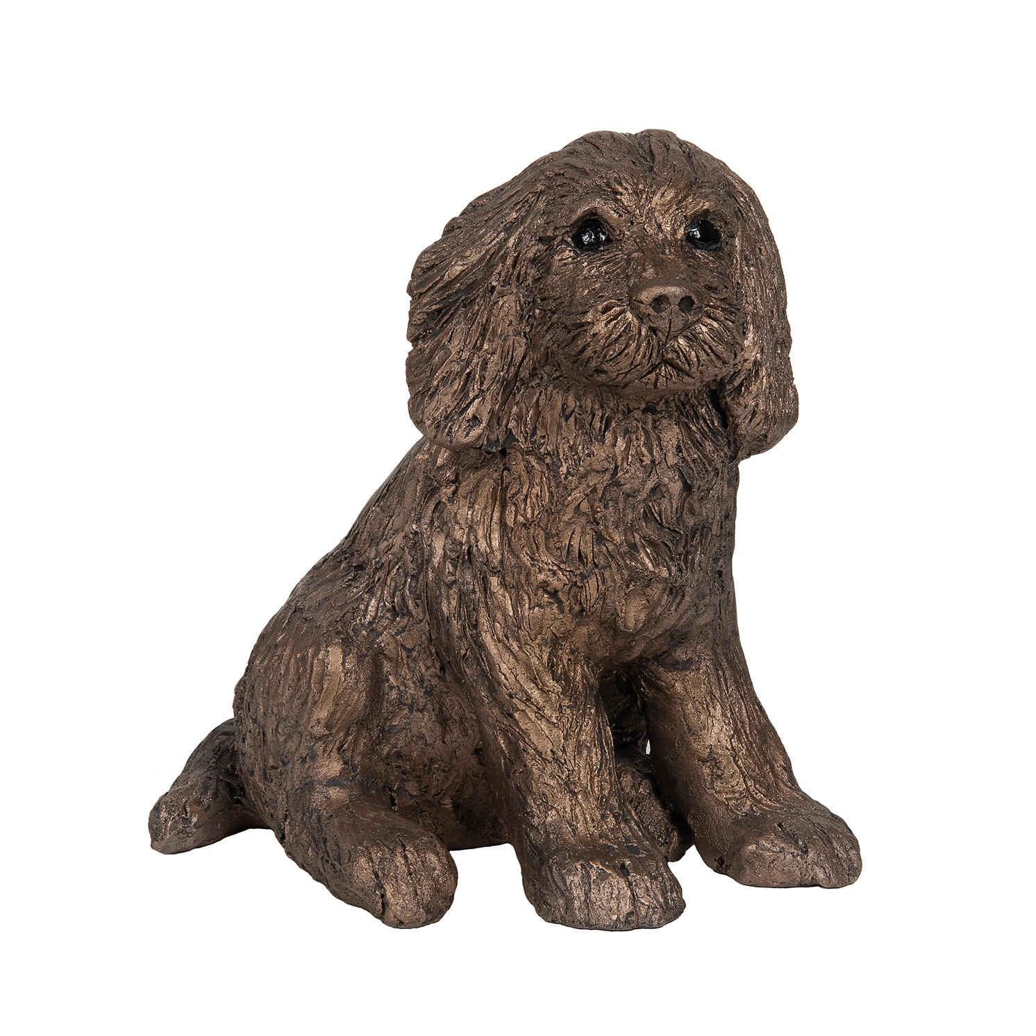 Frith Sculpture – Raffles Sitting Cocker Spaniel in Bronze Resin with Box
