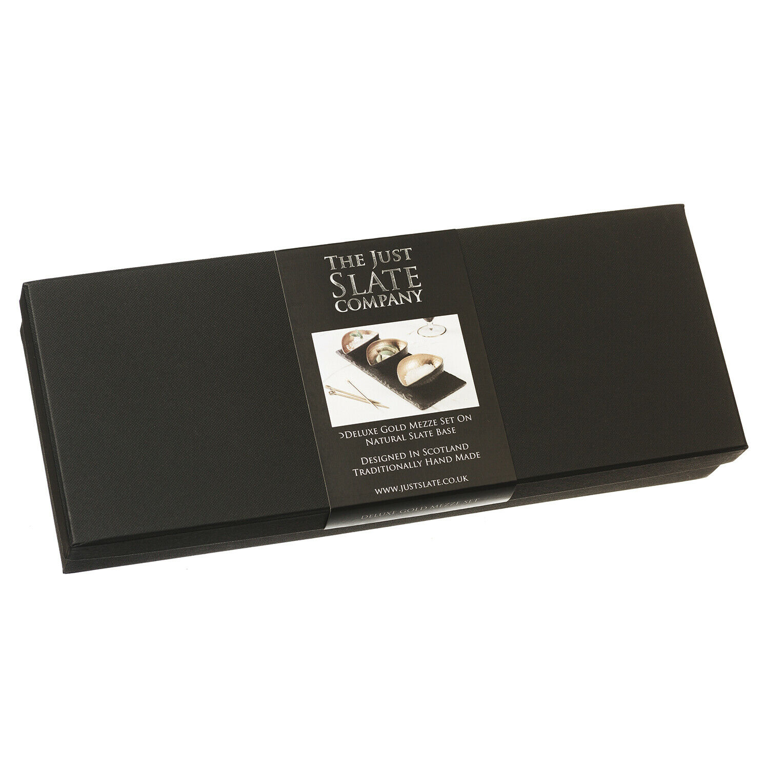 The Just Slate Company – Deluxe Gold Mezze Set in Gift Box