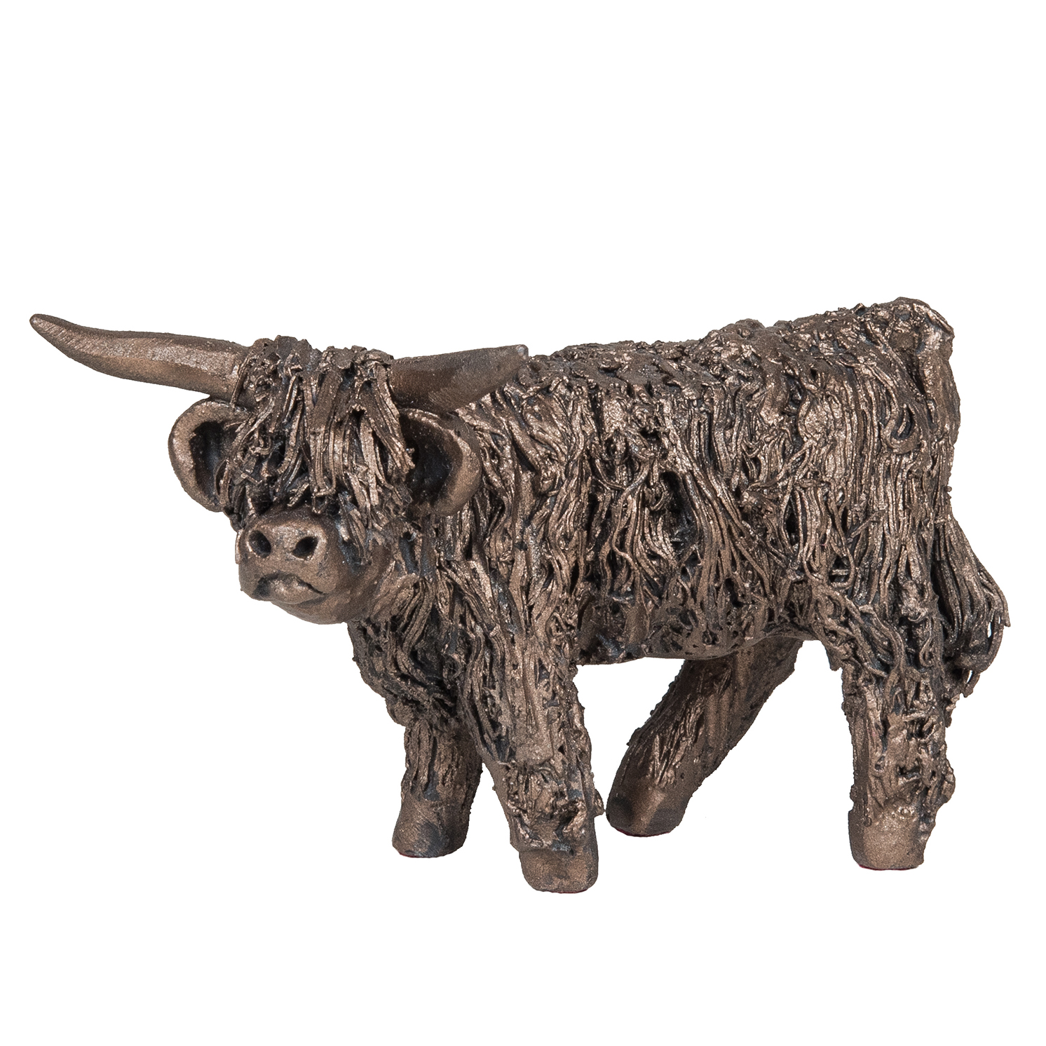Frith Sculpture – Angus – Highland Cow Standing in Bronze Resin in Gift Box