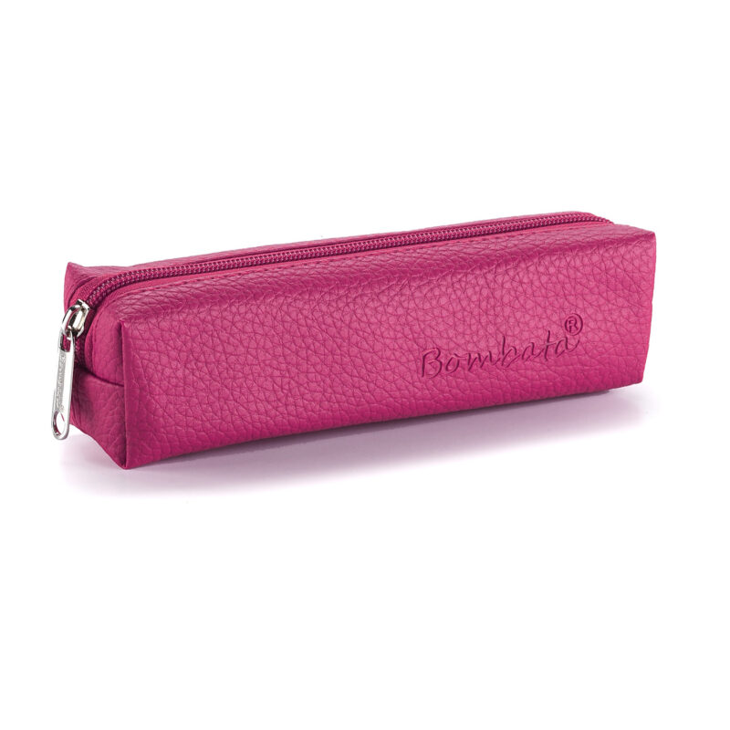 Bombata – Pink Classic Pen Case/Vanity Pouch with Zip Closure