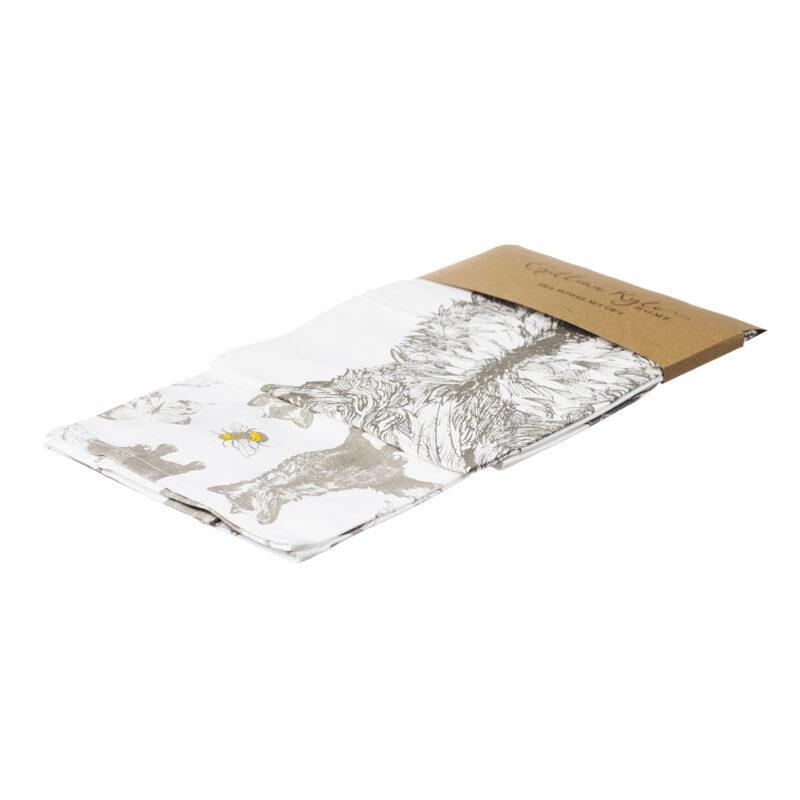 Gillian Kyle – Set of 2 Fox Design Tea Towels
