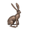 Frith Sculpture – Jaz Hare Sitting in Bronze Resin by Thomas Meadows in Gift Box