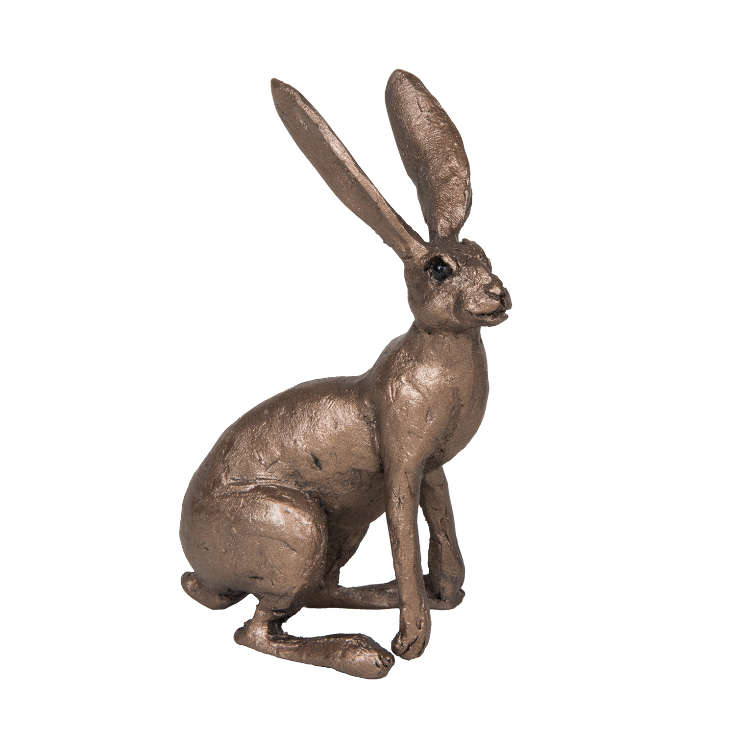 Frith Sculpture – Jan – Hare Alert in Bronze Resin by Thomas Meadows in Gift Box