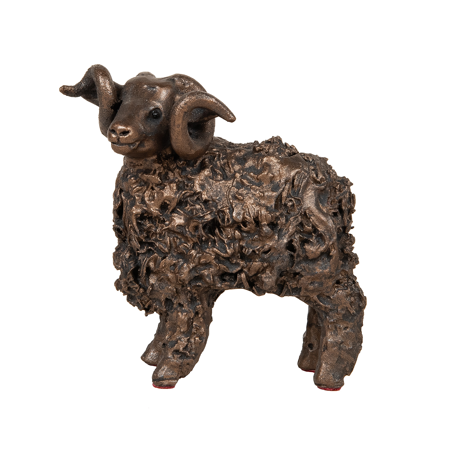 Frith Sculpture – Swaledale Ram Standing in Bronze Resin in Gift Box