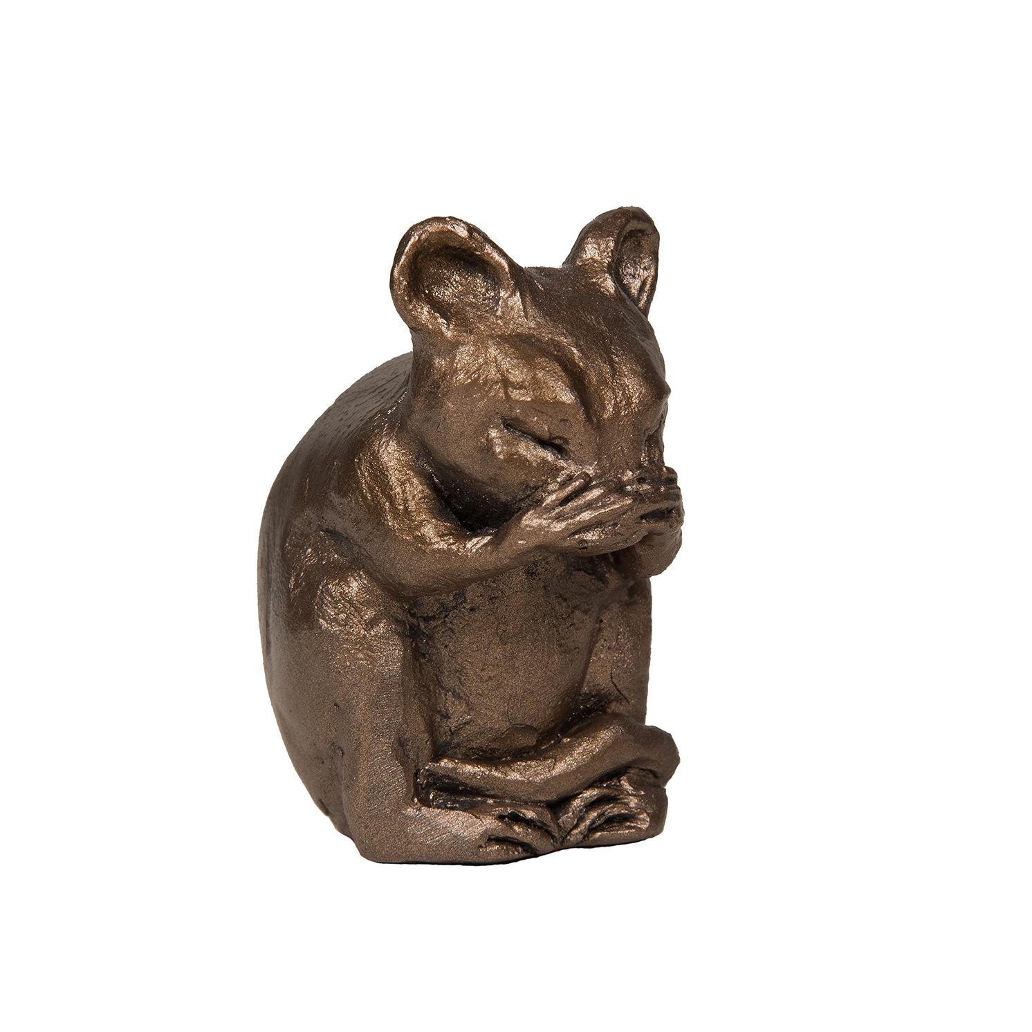 Frith Sculpture – Mortimer Mouse Washing his Face in Bronze Resin in Gift Box