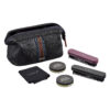 Ted Baker – Black Textured Faux Leather Travel Organiser with Pen