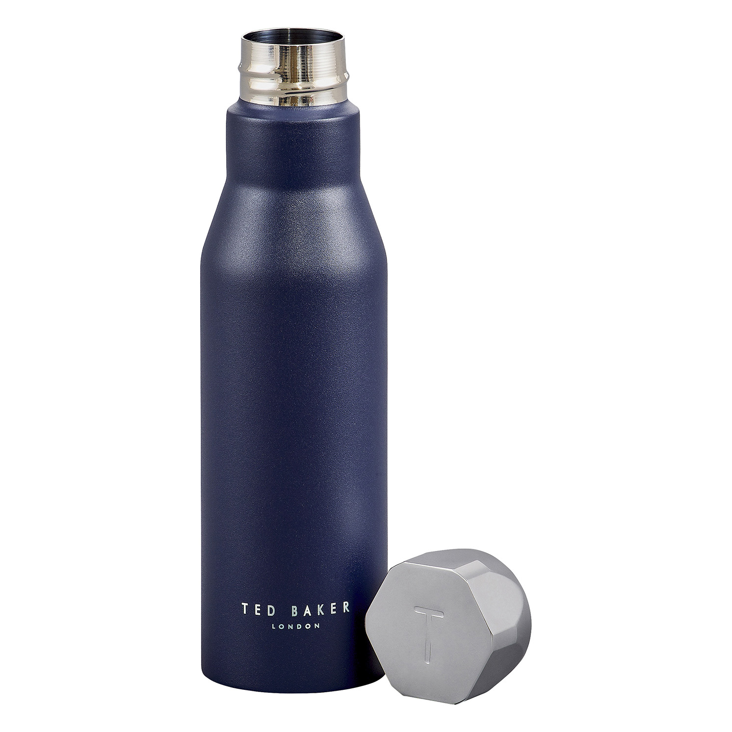 Ted Baker – Navy Blue Stainless Steel Hexagonal Lid Insulated Water Bottle