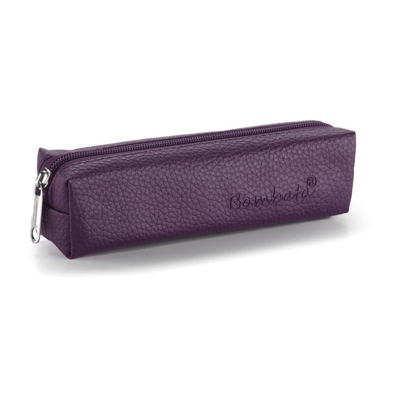 Bombata – Purple Classic Pen Case/Vanity Pouch with Zip Closure