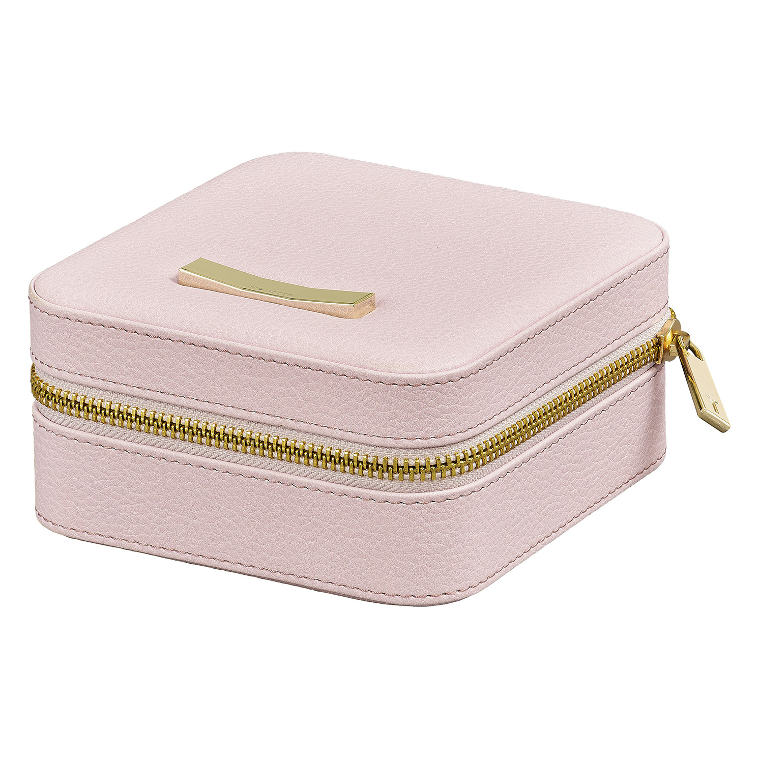 Ted Baker – Pink Zipped Jewellery Storage Case with Gold Ted Baker Branded Bow
