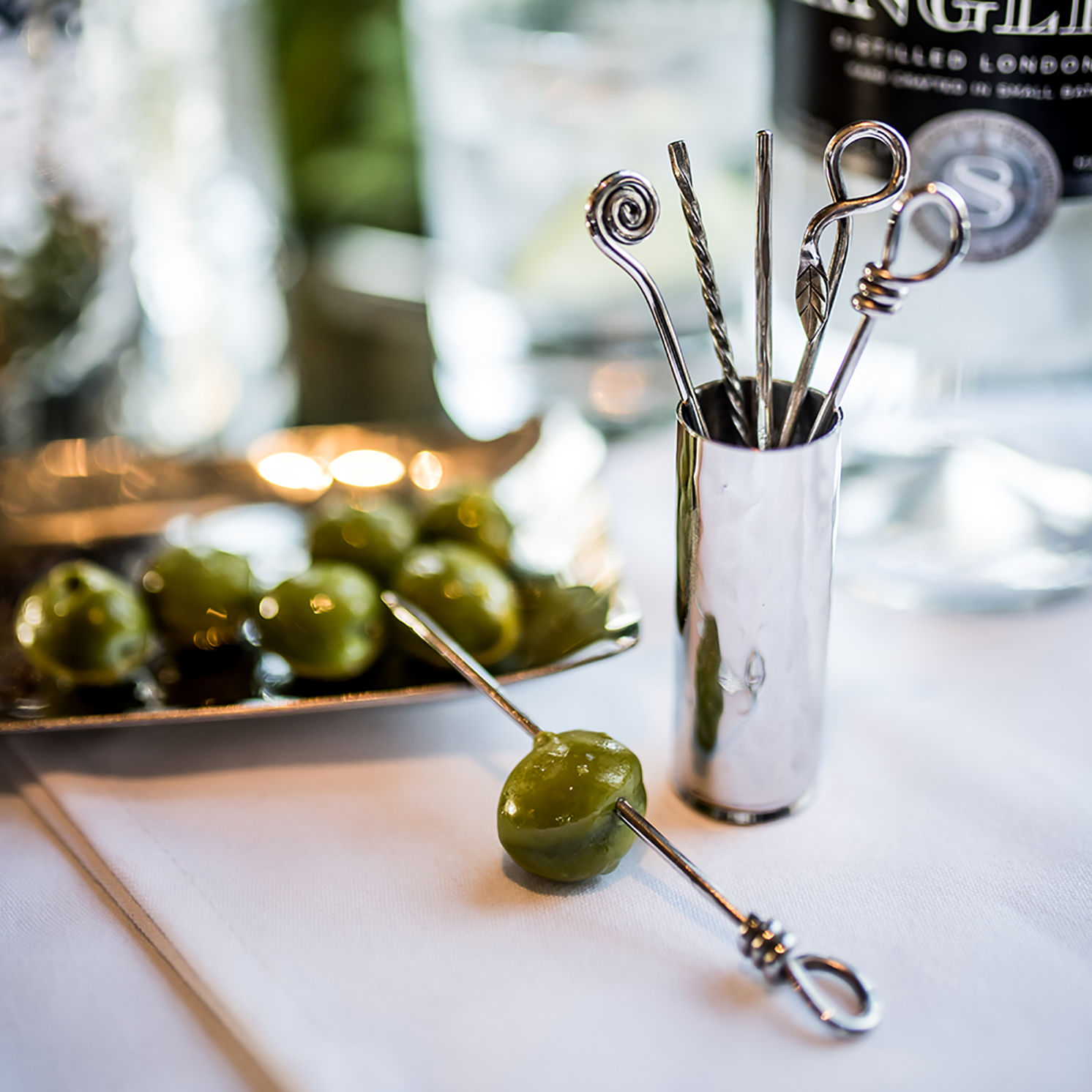 Culinary Concepts – Set of 6 Mixed Olive Picks with Holder in Gift Box