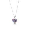 Shrieking Violet – Purple Haze Silver Teardrop Drop Earrings in Gift Box