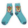Powder – Beige Ostrich Ankle Socks with Powder Presentation Gift Bag
