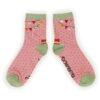 Powder – Pink Jungle Ankle Socks with Presentation Gift Bag