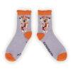 Powder – Moss Green Flamingo Ankle Socks with Presentation Gift Bag