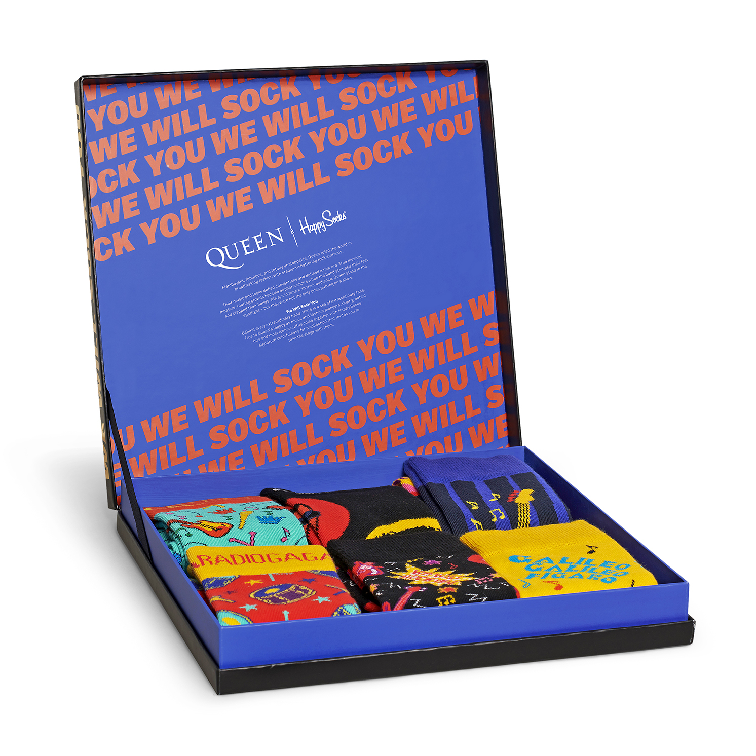 Happy Socks – 6 Pairs of Queen Socks in The Collector Box Gift Set