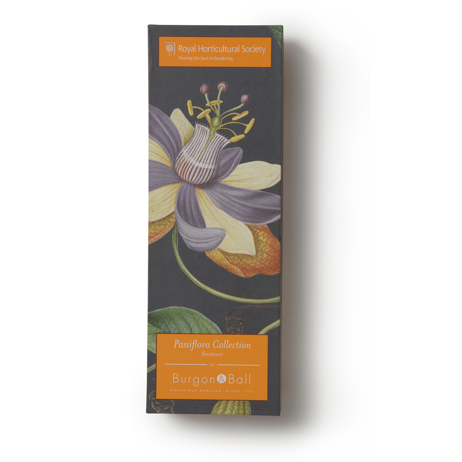 Burgon & Ball – RHS Passiflora Secateurs in Presentation Gift Box