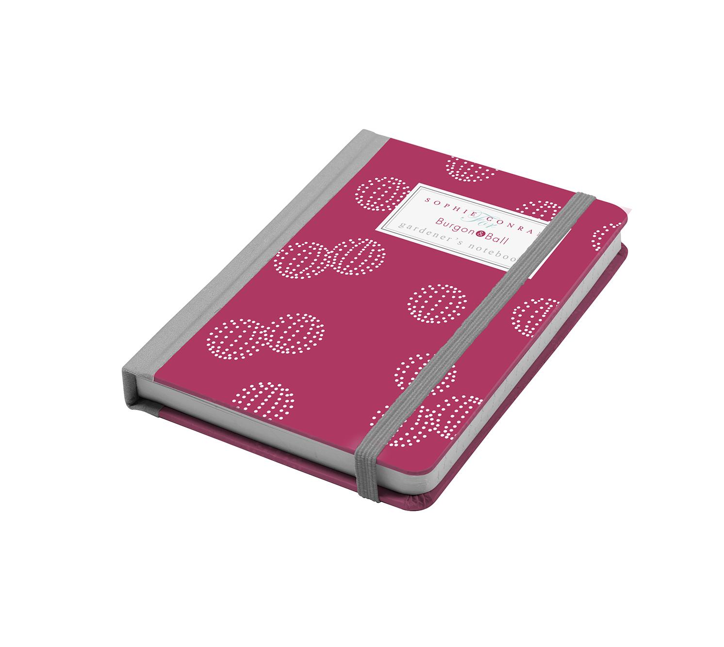 Burgon & Ball – Sophie Conran Gardener's A6 Notebook in Raspberry