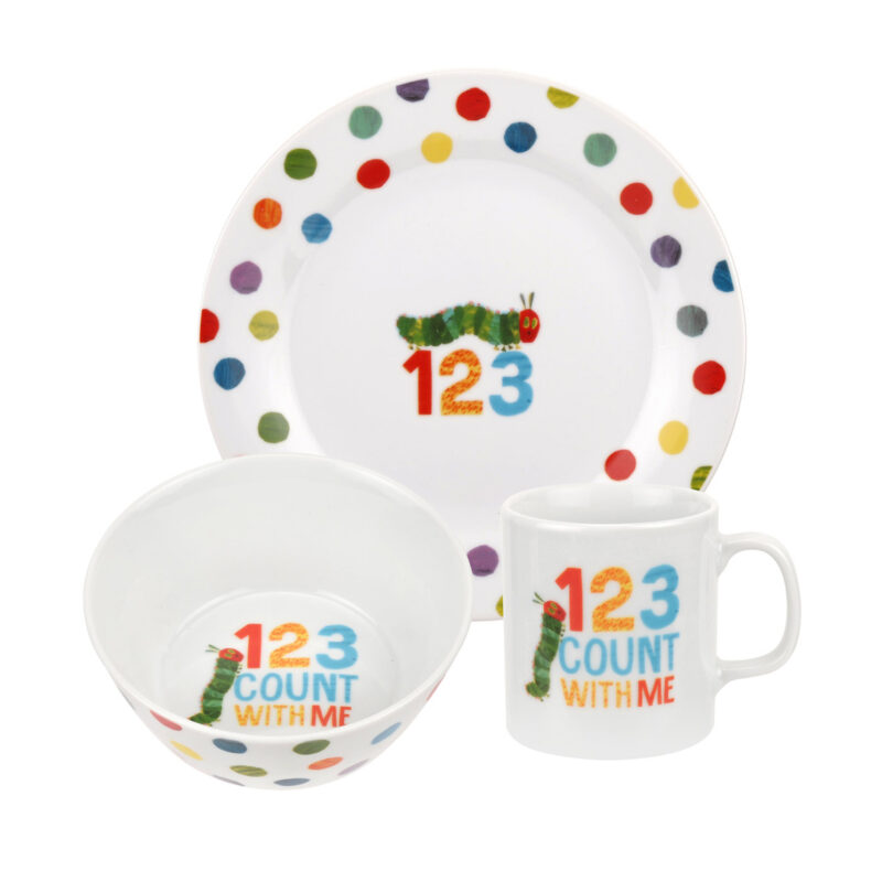 Portmeirion – The Very Hungry Caterpillar 3 Piece Tableware Set in Gift Box
