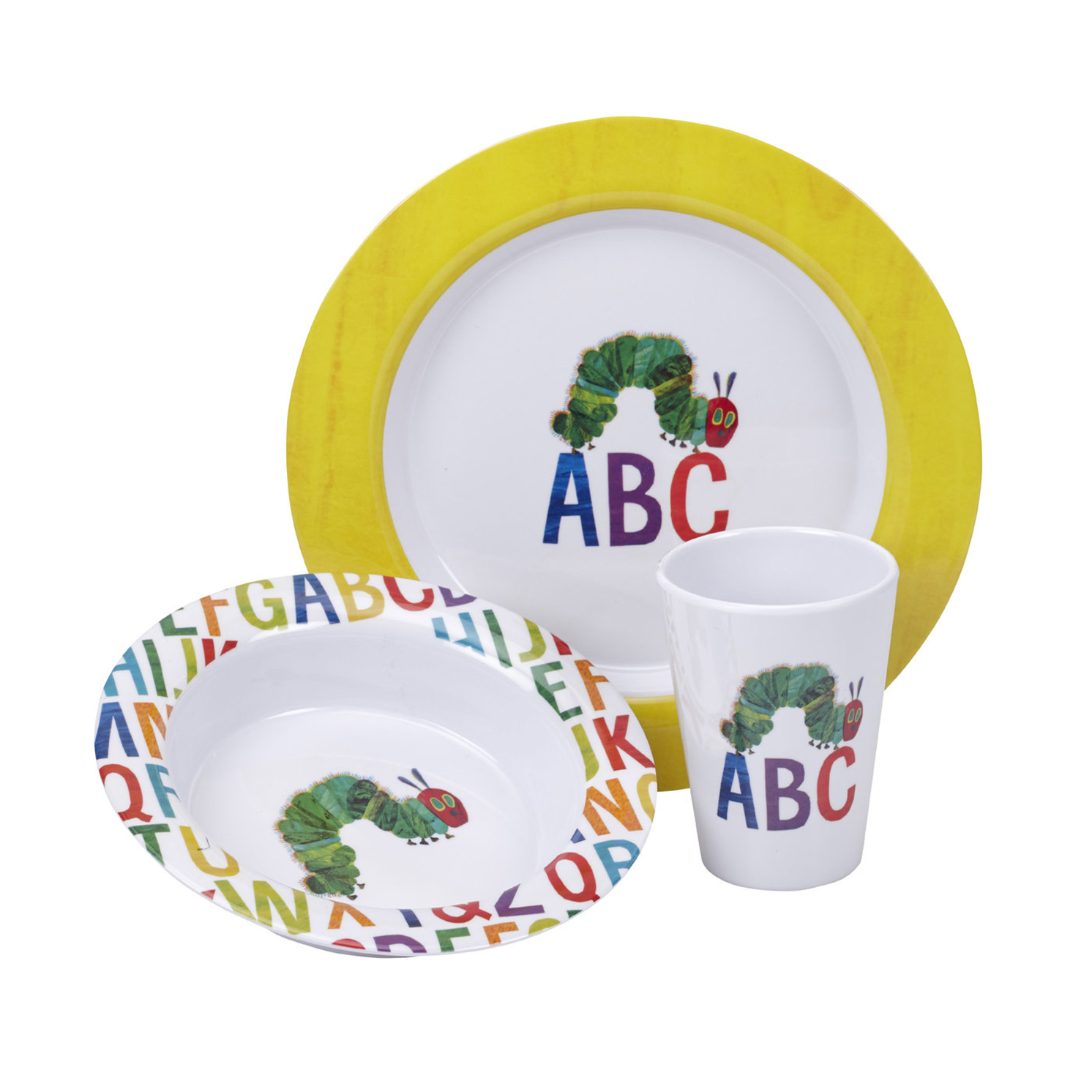 Portmeirion – The Very Hungry Caterpillar 3 Piece ABC Melamine Set in Gift Box