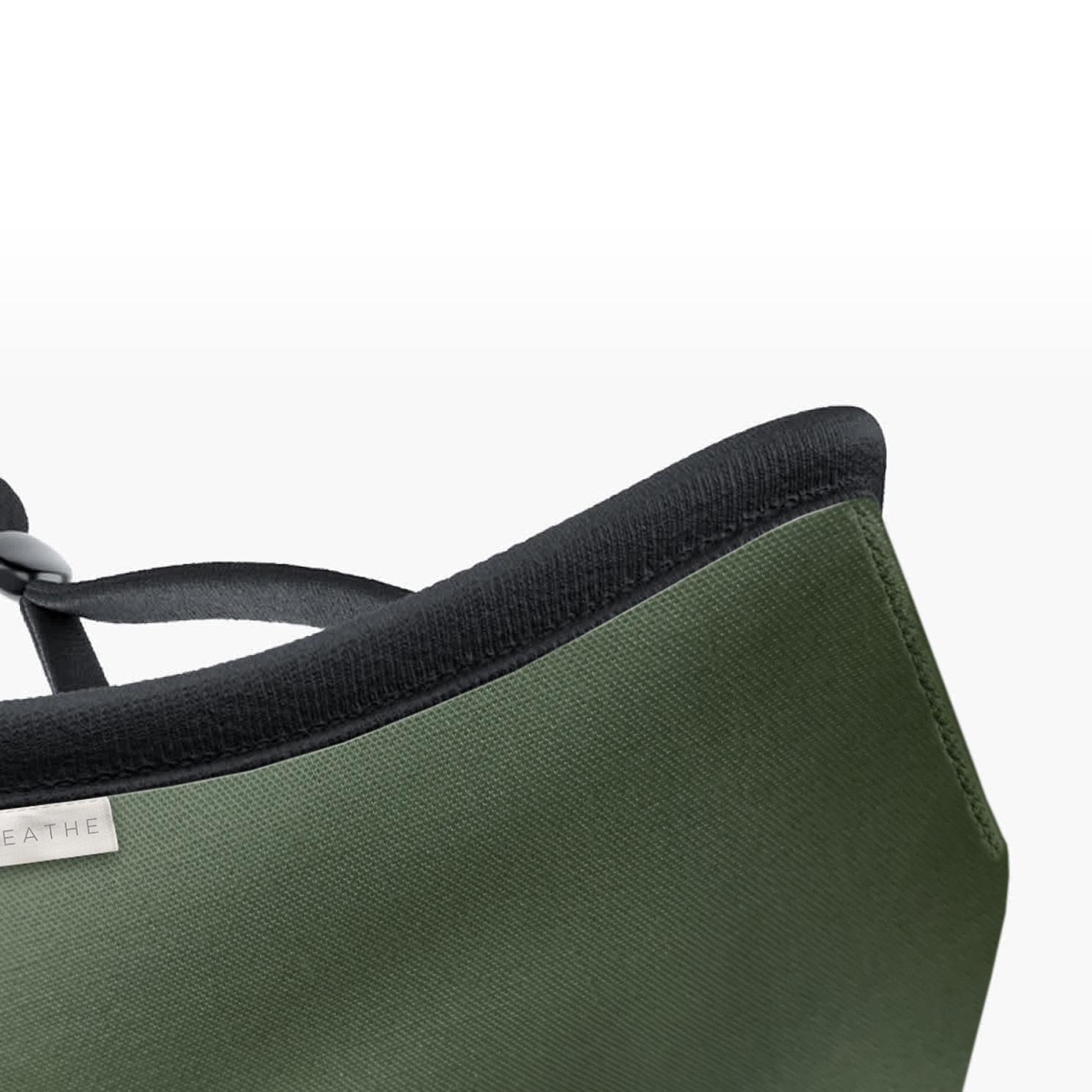 Breathe – Children's Khaki 5-Layered Reusable Organic Cotton Face Mask in Bag