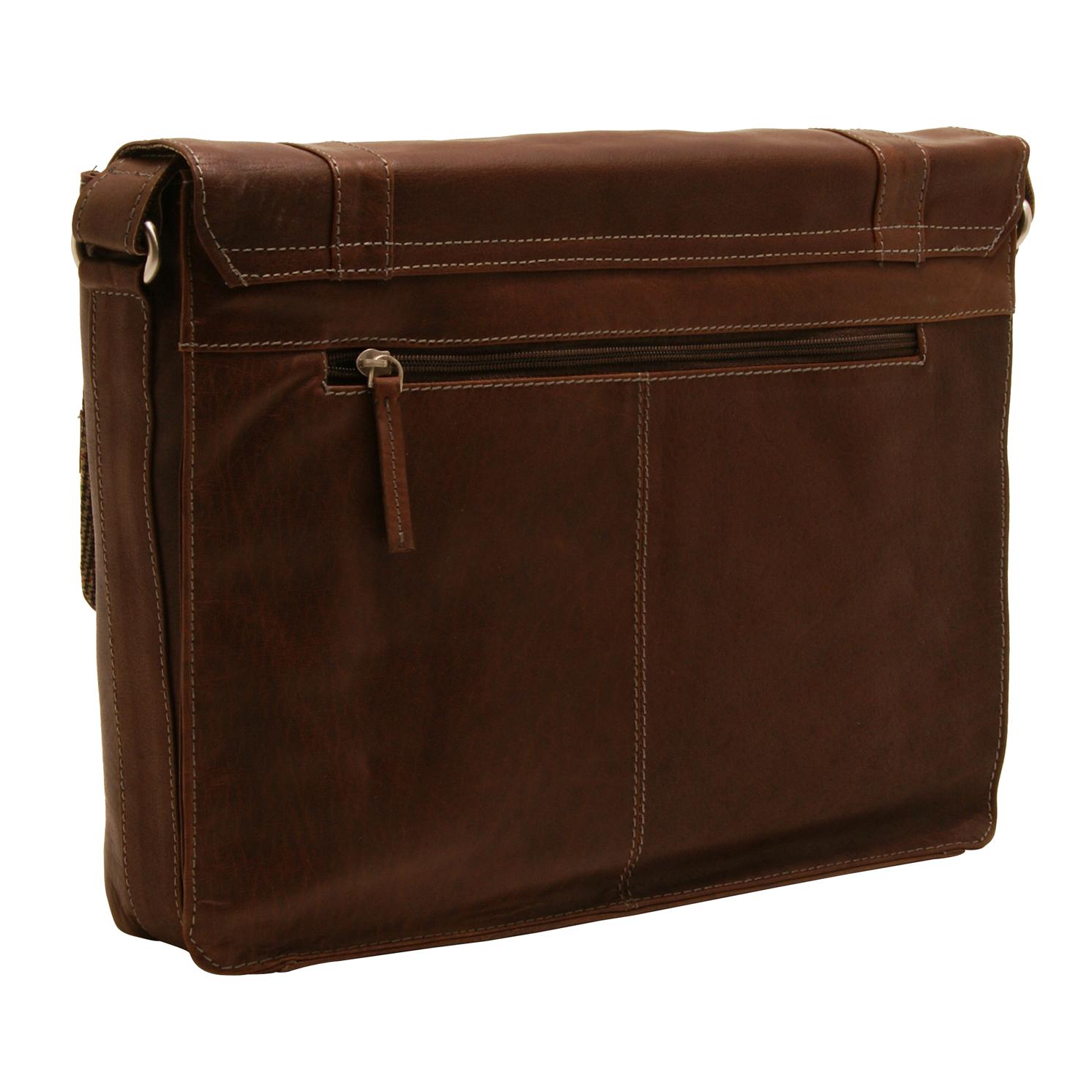 Edward Robertson – Brown Spiral Messenger/Satchel Bag in Buff Hunter Leather