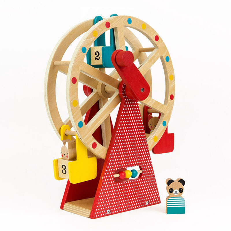 Petit Collage – Wooden Ferris Wheel Carnival Play Set