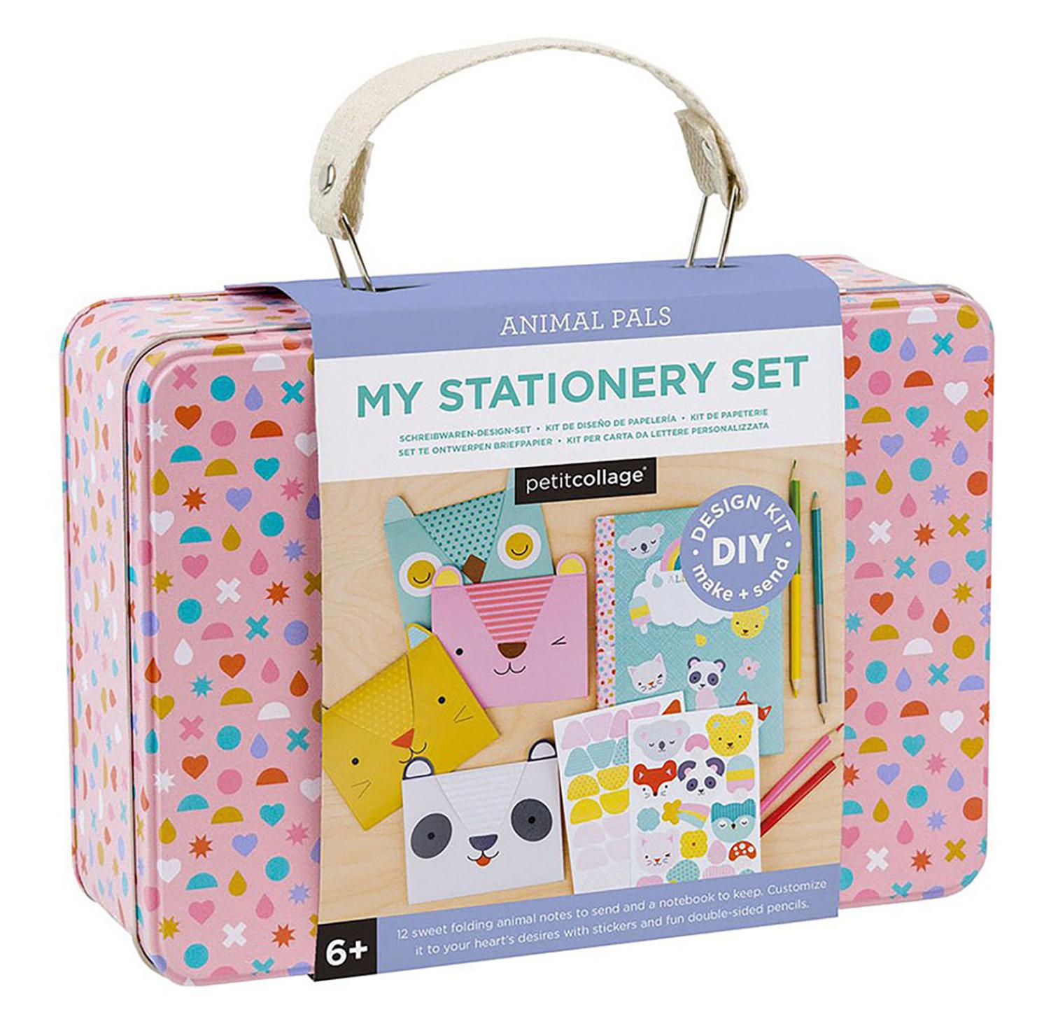 Petit Collage – My Stationery Set Animal Pals DIY Kit