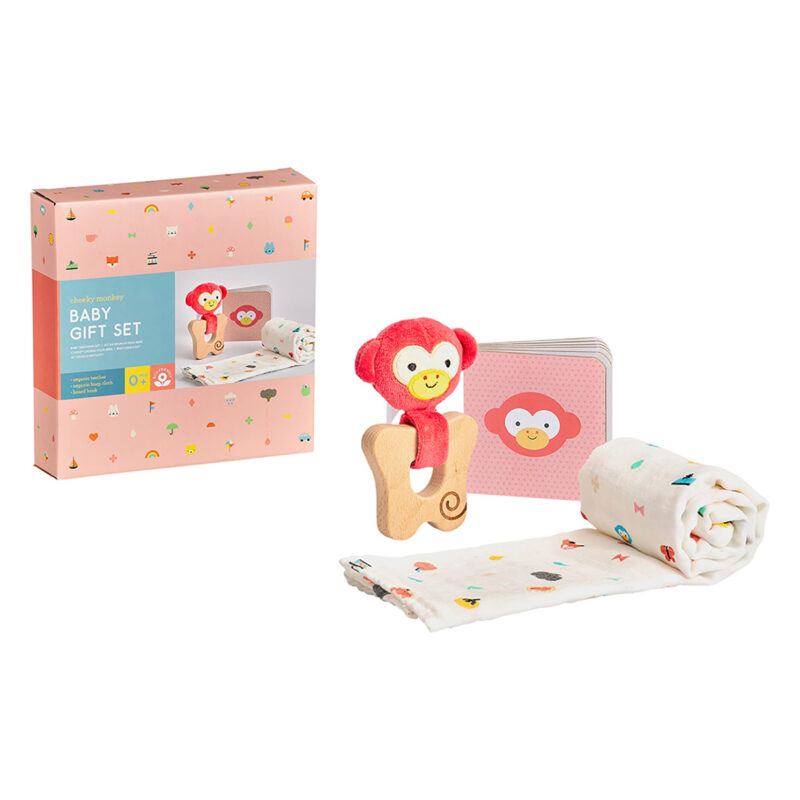 Petit Collage – Little Monkey Baby Boxed Gift Set