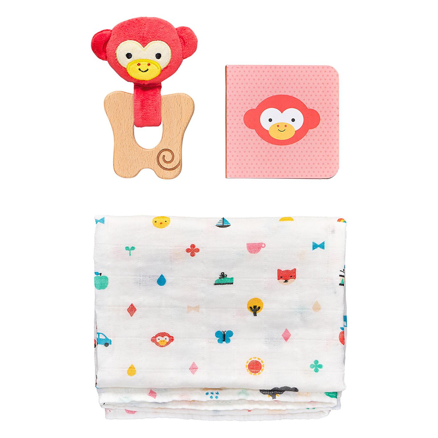 Petit Collage – Little Monkey Baby Boxed Gift Set