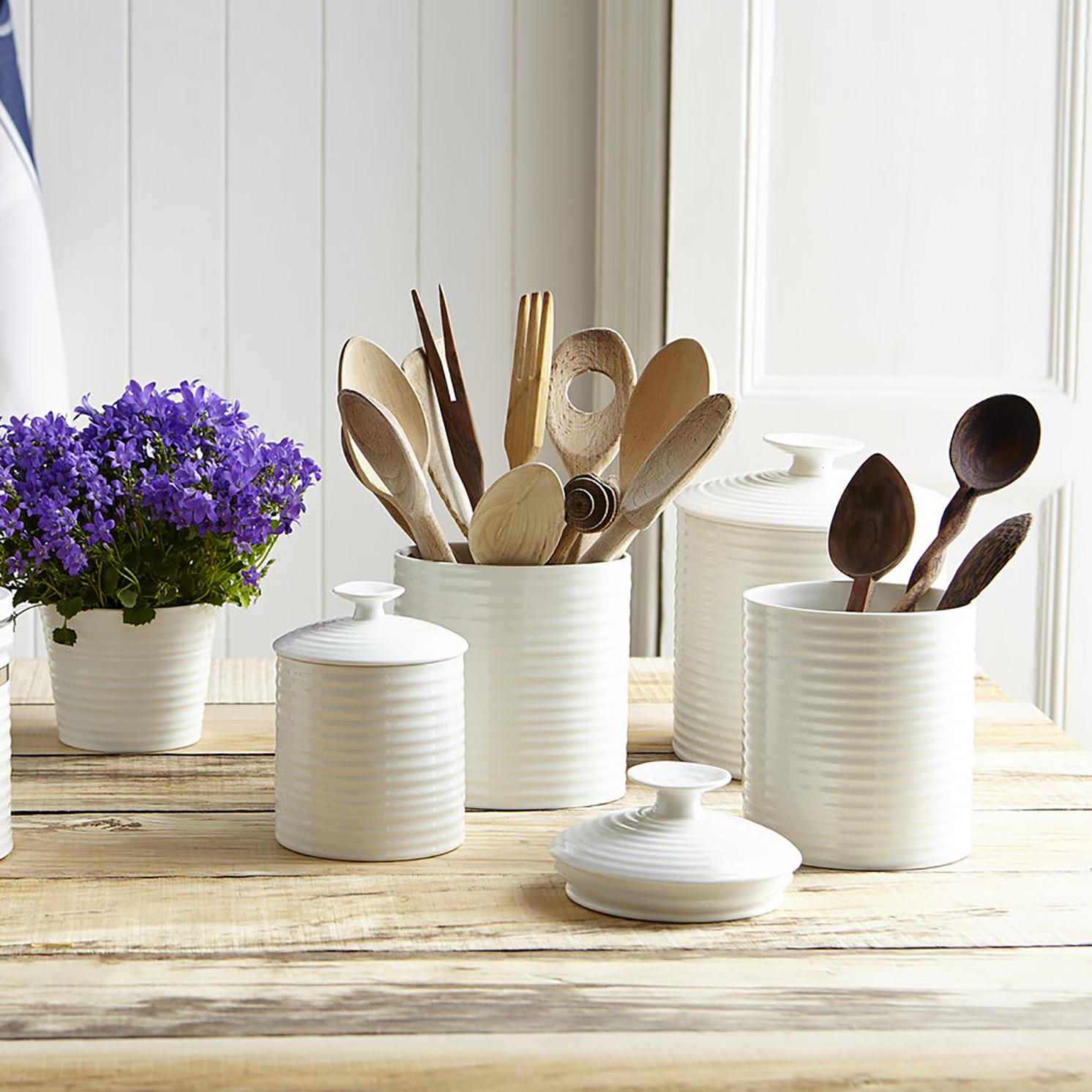Sophie Conran for Portmeirion – White Large Oval Utensil Jar in Gift Box