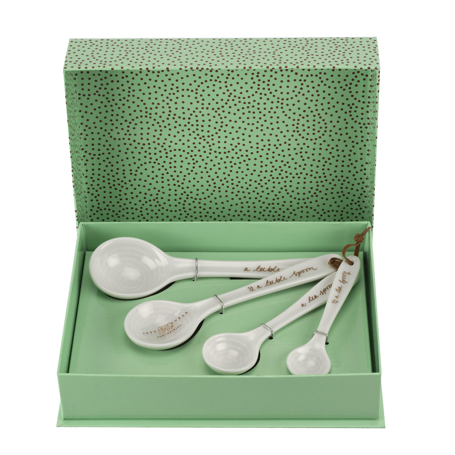 Sophie Conran for Portmeirion – White Set of 4 Measuring Spoons in Gift Box