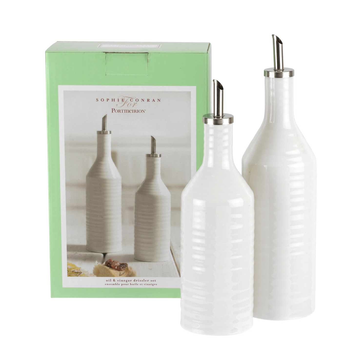 Sophie Conran for Portmeirion – White Oil & Vinegar Drizzler Set in Gift Box