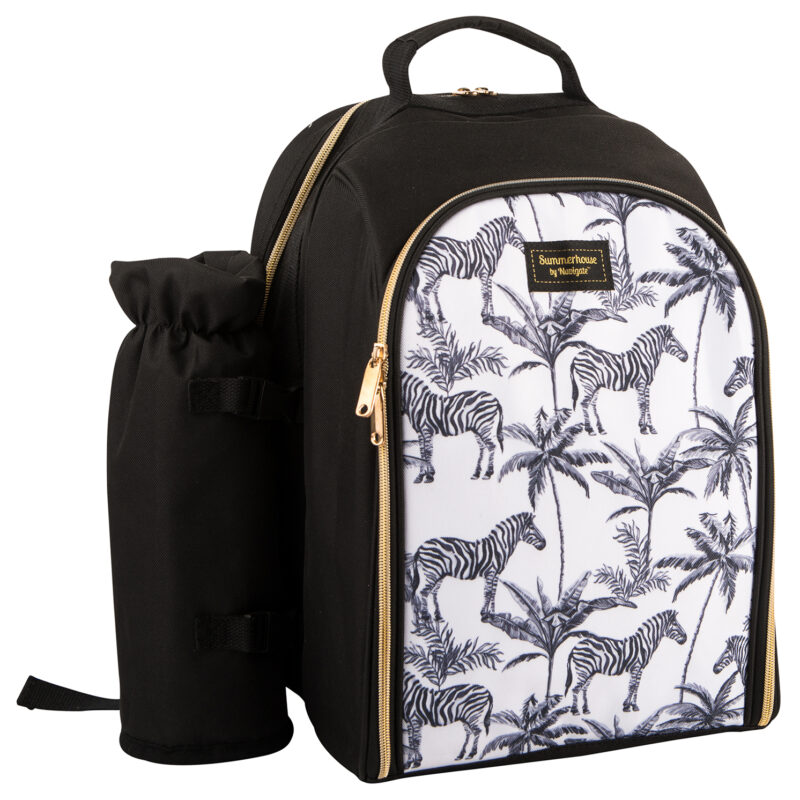 Navigate – Summerhouse 'Madagascar' Zebra 2 Person Insulated Picnic Backpack