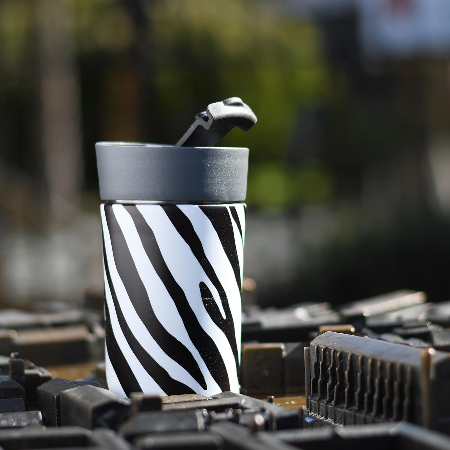 Navigate – 'Madagascar' Sloth Insulated Lunch Tote Bag & Zebra Stripe Travel Mug