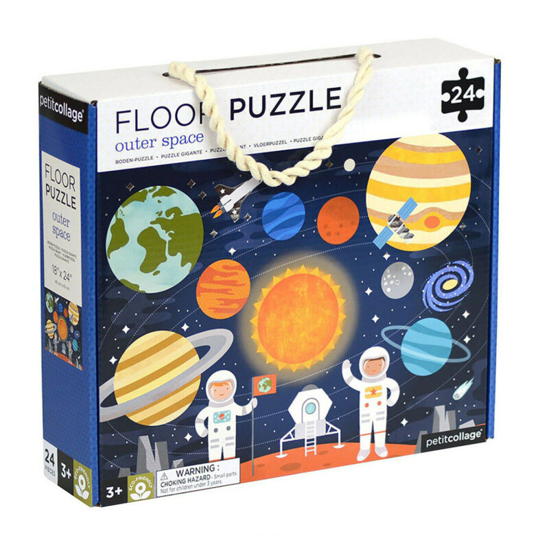 Petit Collage – Outer Space Floor Puzzle in Gift Box with Carrying Handle
