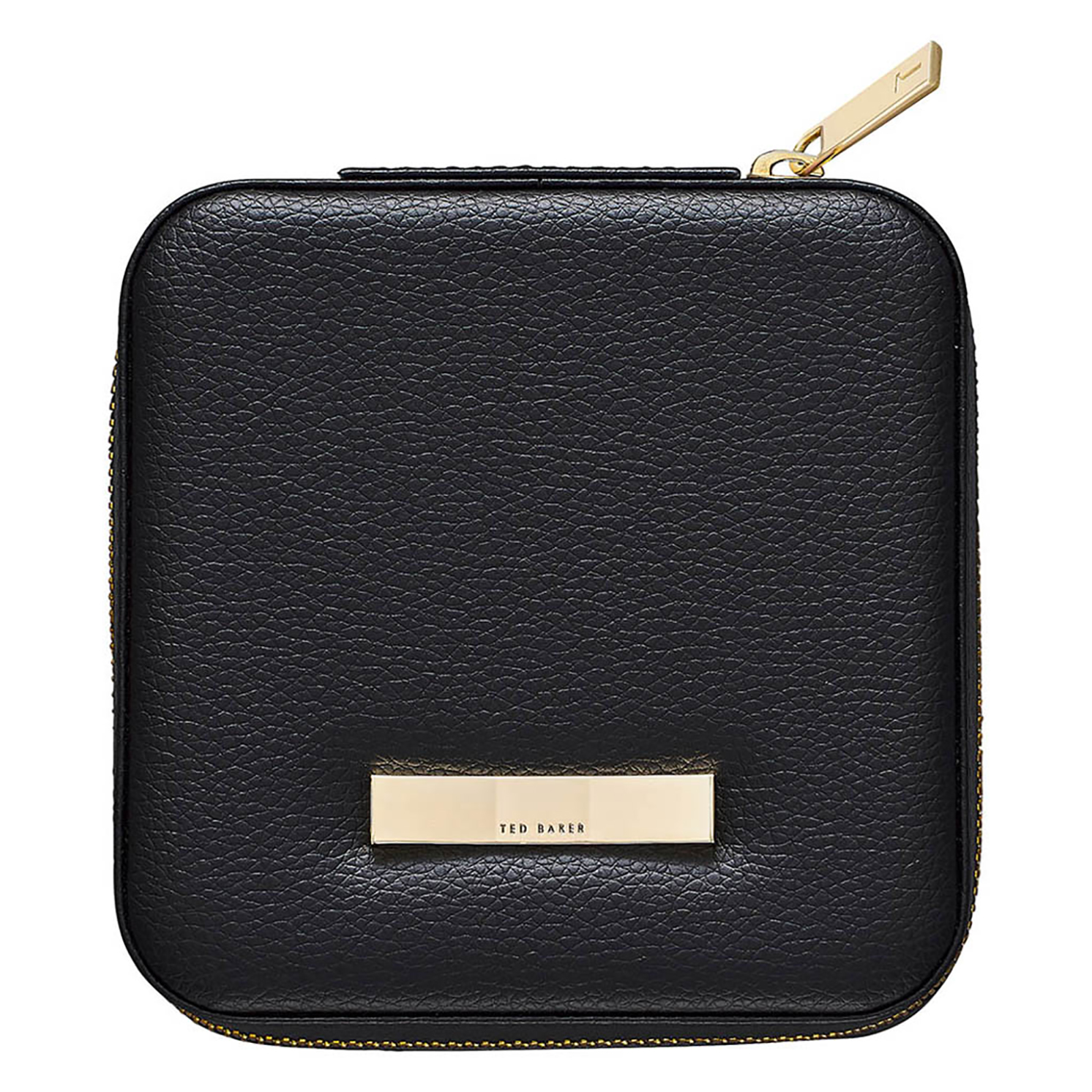 Ted Baker – Black Zipped Jewellery Storage Case with Gold Ted Baker Branded Bow